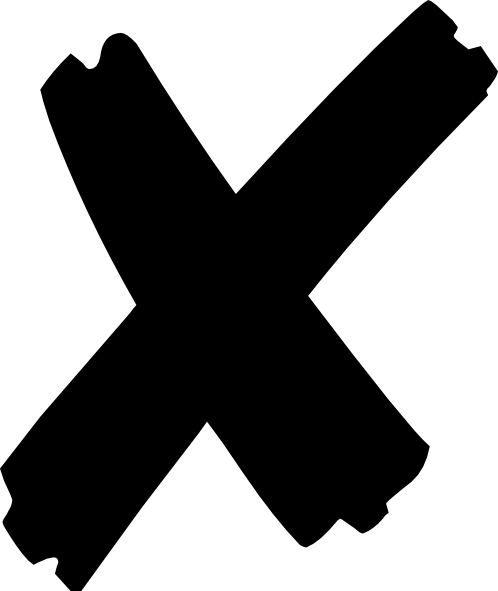 498x591 X Mark X Clip Art