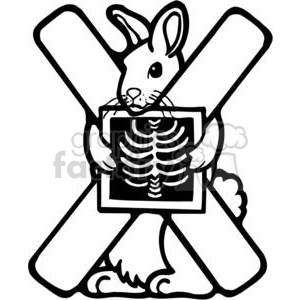 300x300 Royalty Free Letter X X Ray 380201 Vector Clip Art Image
