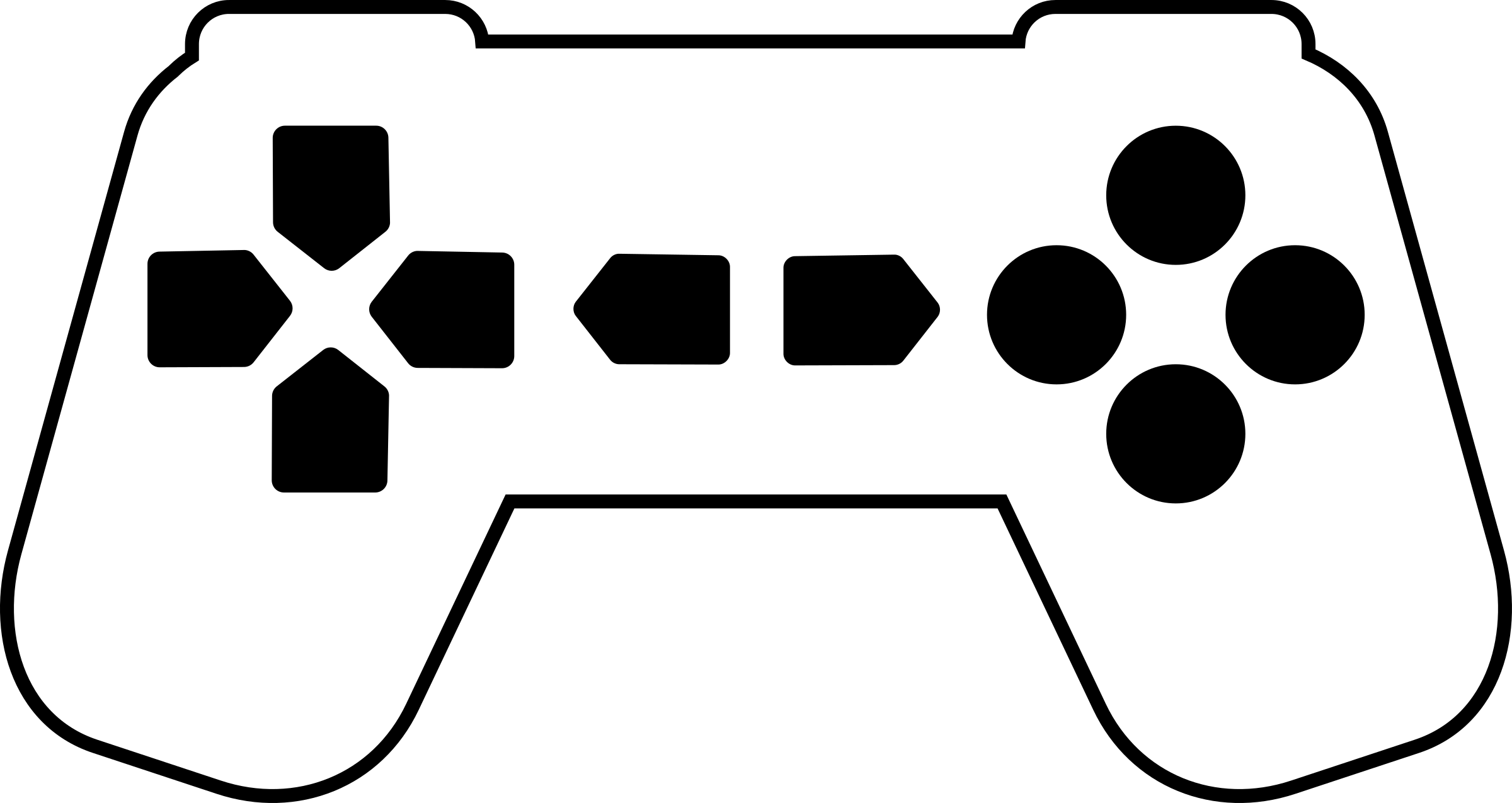 2400x1275 Game Controller Clipart