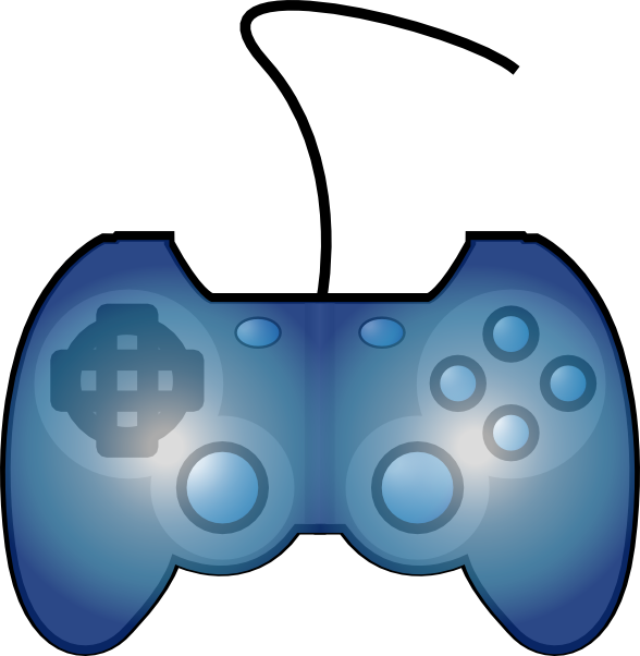 588x602 Joypad Game Controller Clip Art