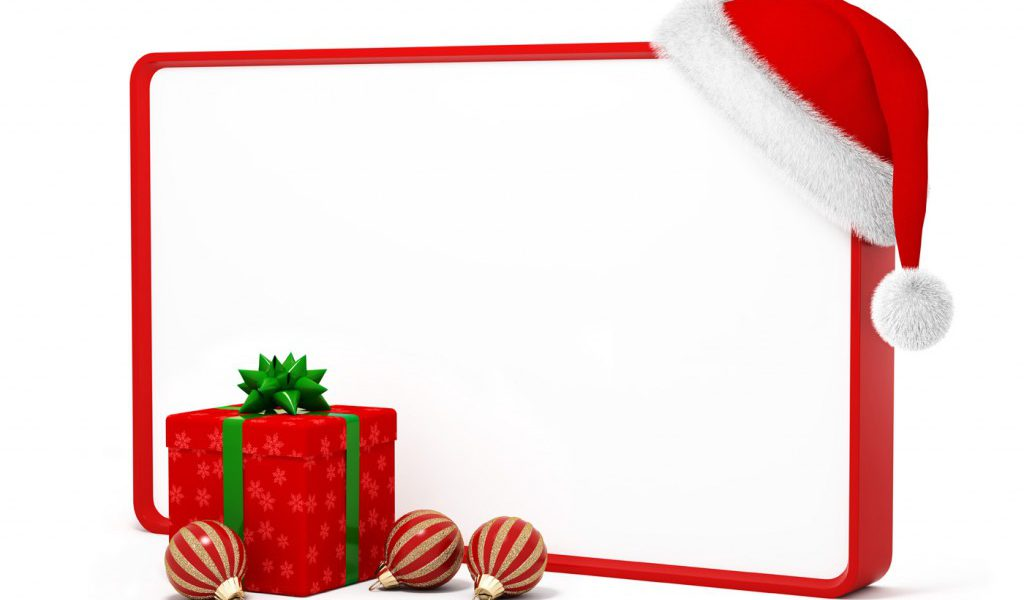 1024x600 Christmas Frames Clip Art