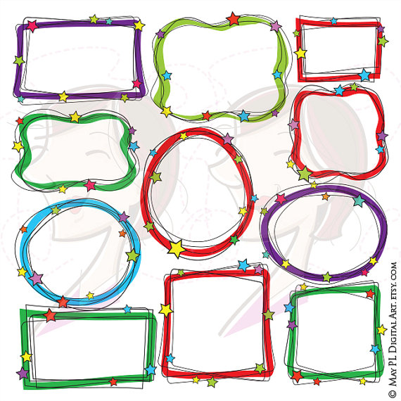 570x570 Doodle Frames Clip Art Handdrawn Christmas Borders Svg Great