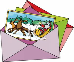 300x252 Image A Christmas Greeting Card In An Envelope