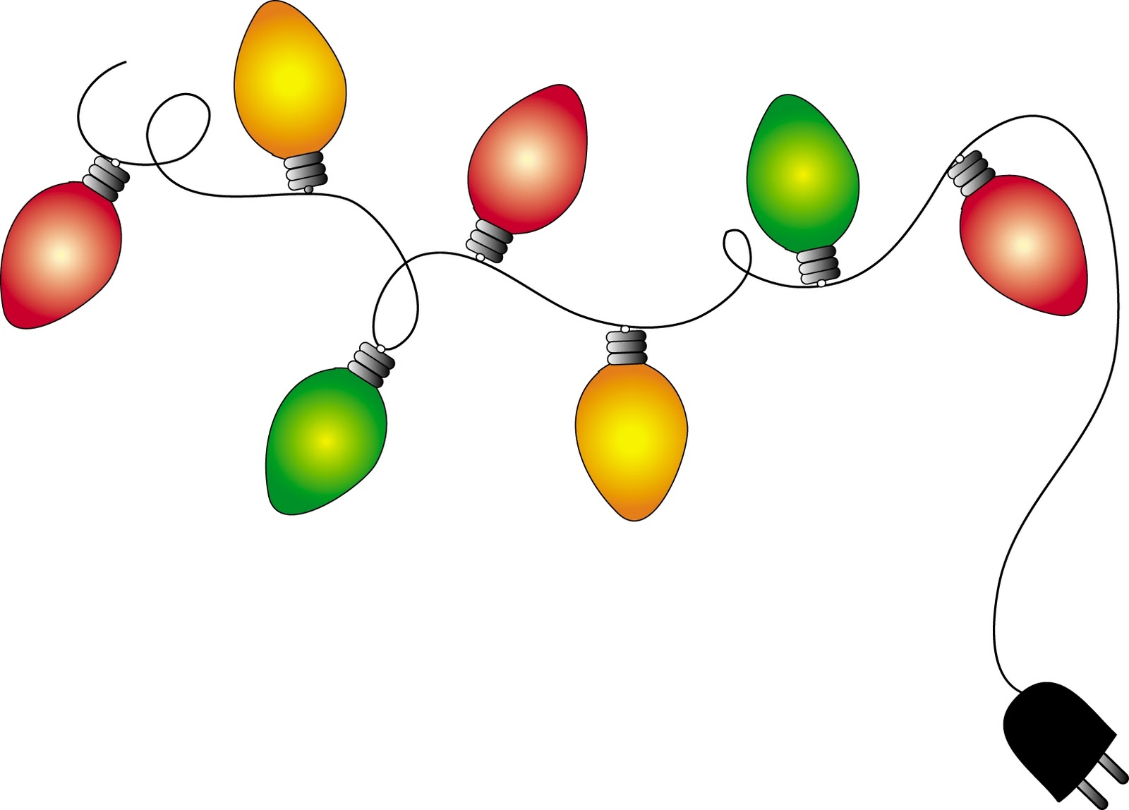 1600x1148 Christmas Lights Clipart