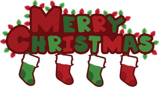 549x310 Merry Christmas Clipart Words