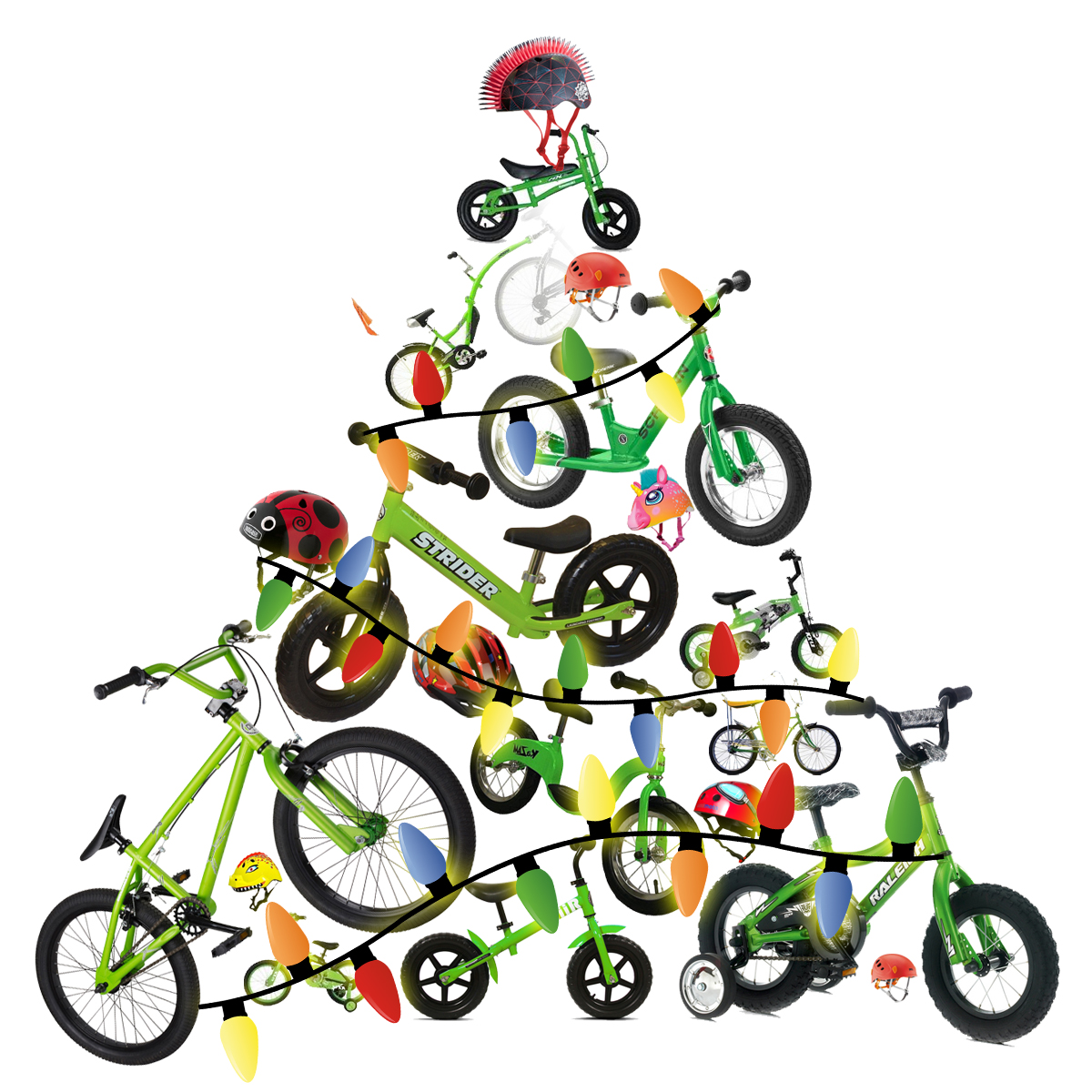 1200x1200 Bike Clipart Christmas
