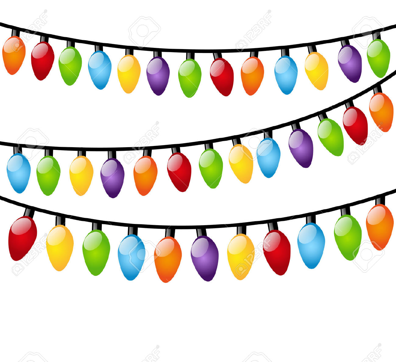 1300x1188 Free Christmas Lights Vector Border Vector Bright Christmas