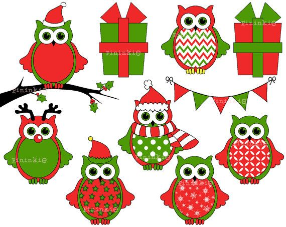 570x453 30 Best Clipart Christmas Images Natal, Baby Owl