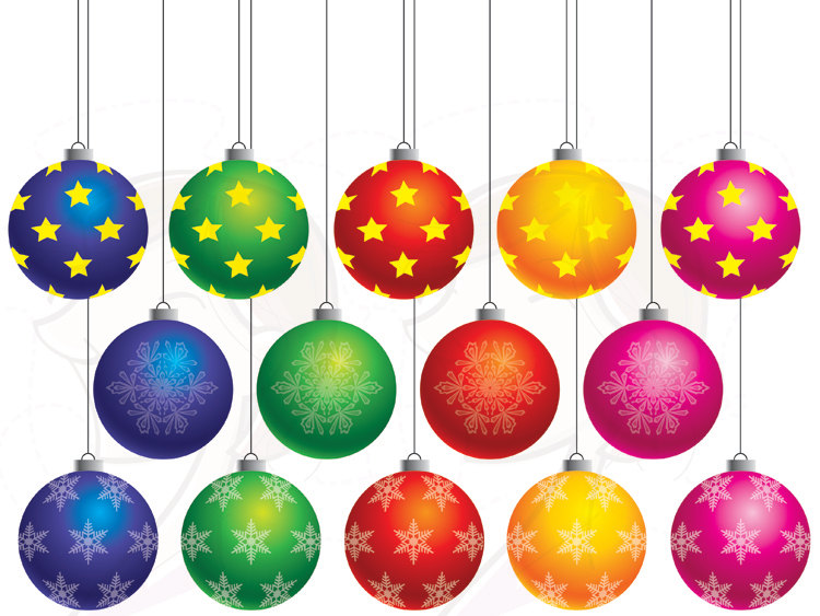 750x563 Silver Clipart Christmas Decoration