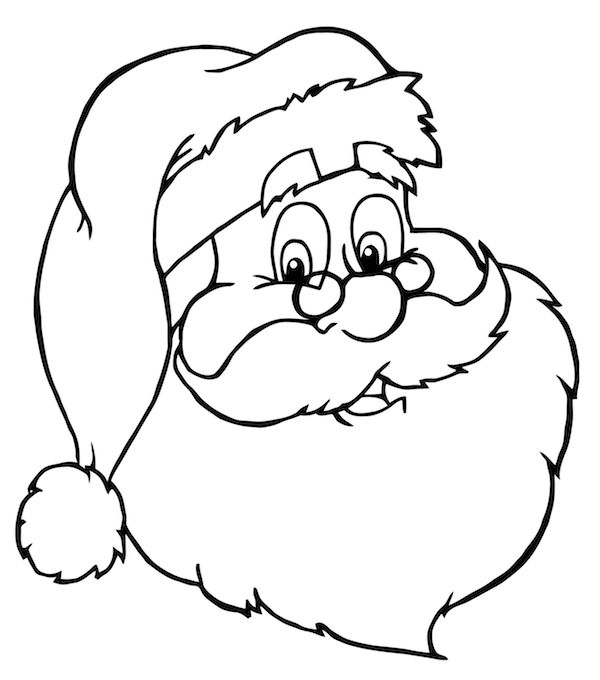 600x680 santa coloring page