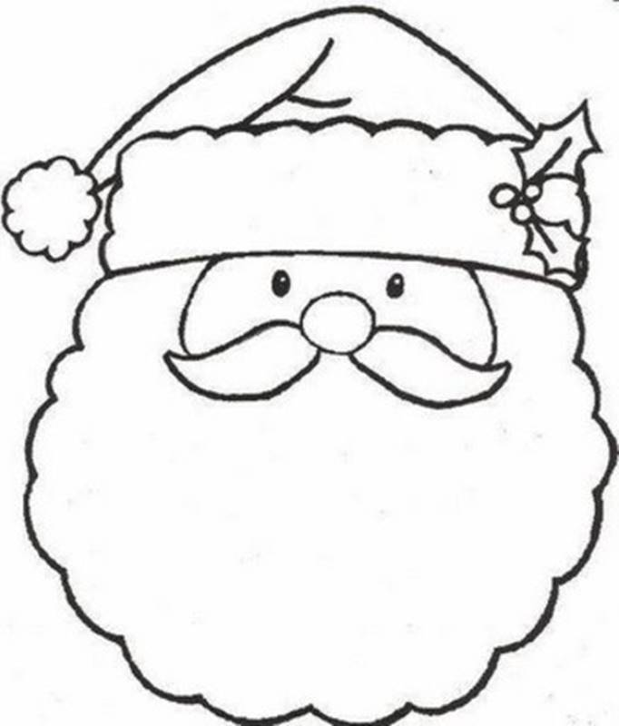 682x800 Preschool Christmas Coloring Pages Free Free Printable Santa Merry