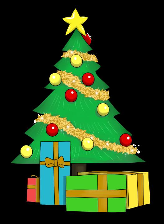 528x718 Christmas Tree Clipart Present Santa Clip Art