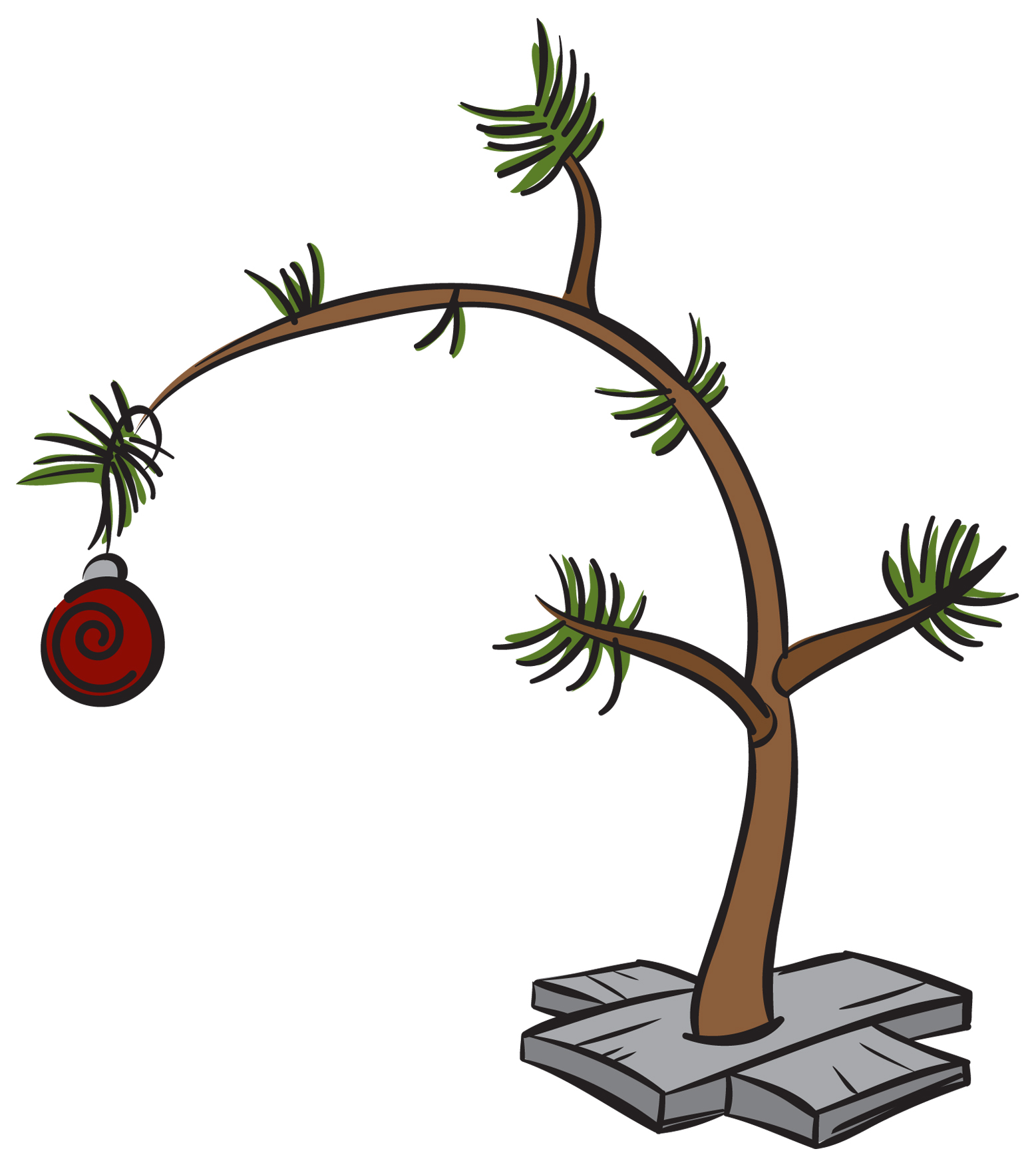 1557x1754 Clip Art Charlie Brown Christmas Tree Free 11