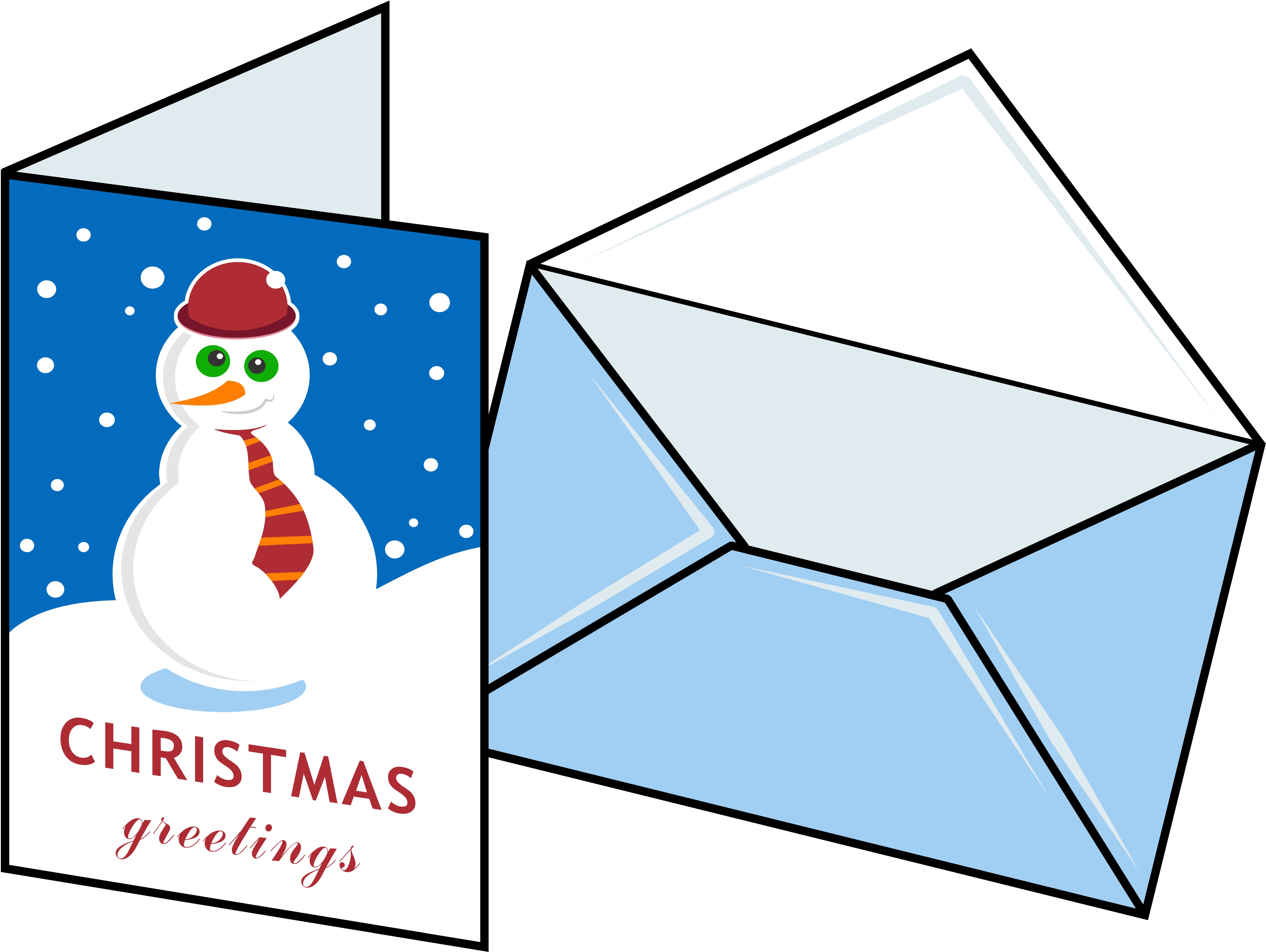 4169x3135 Free Christmas Card Clipart