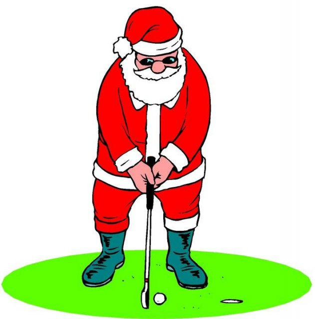 631x640 Free Golf Christmas Clipart