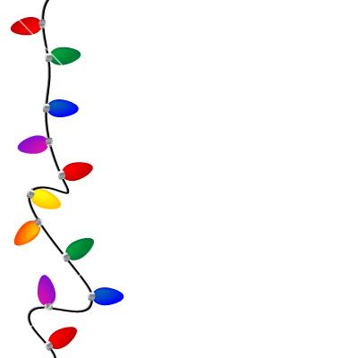380x400 Christmas Lights Clip Art Christmas Clip Art