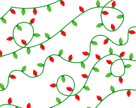 570x454 Clipart Christmas Lights Library Vector Clipart Photo