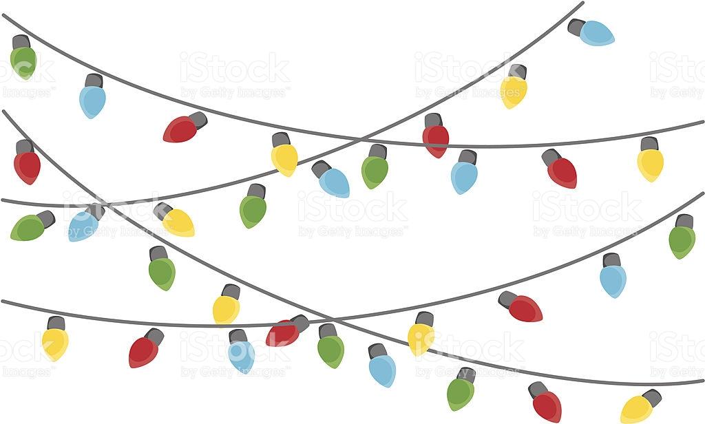 1024x616 Hanging Christmas Lights Clipart