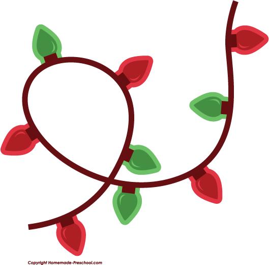 529x520 Clip Art Christmas Lights
