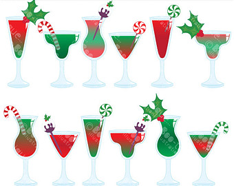340x270 Clip Art Christmas Martini Clipart