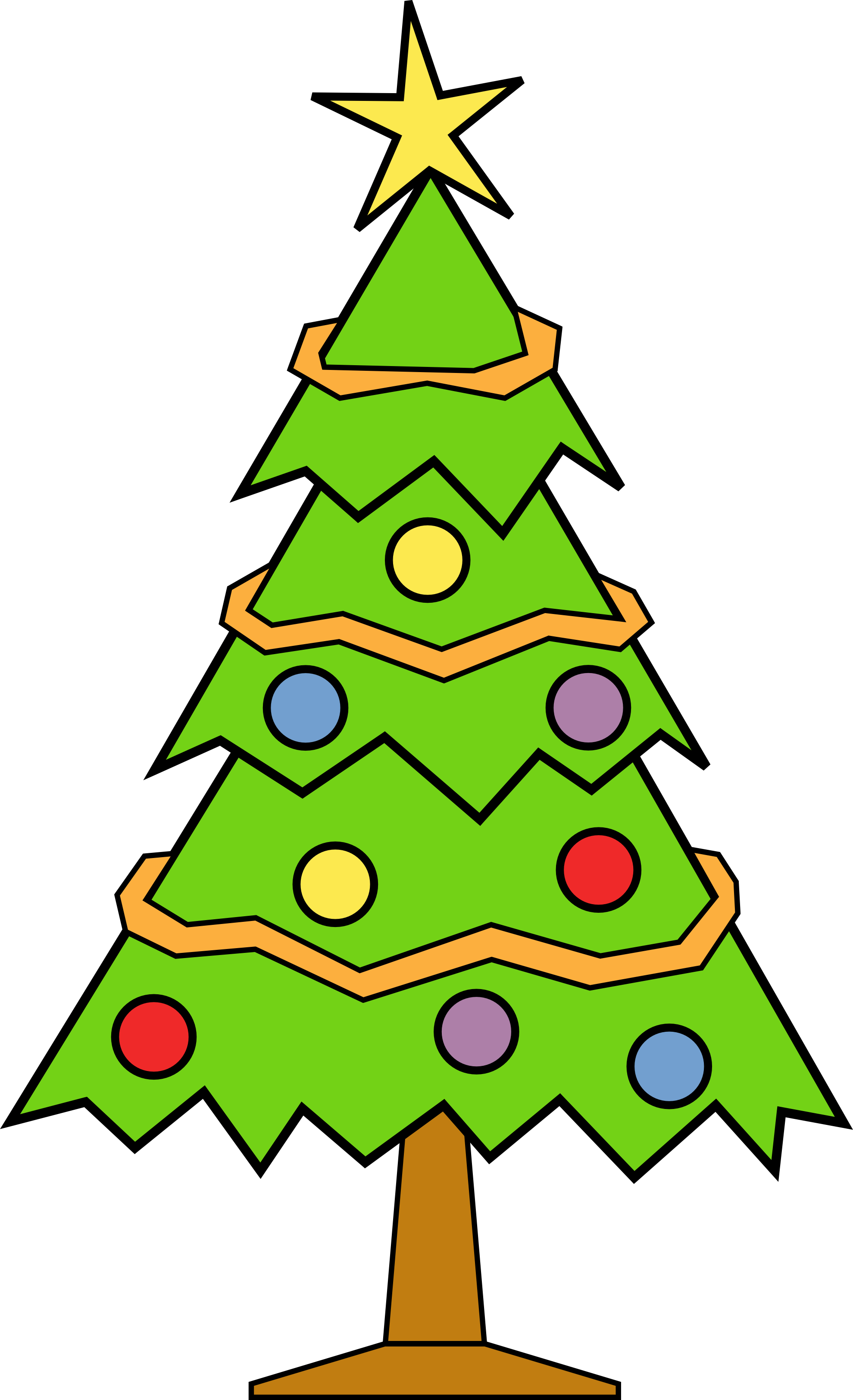 1979x3247 Tree Xmas Clipart Clipartfest 4
