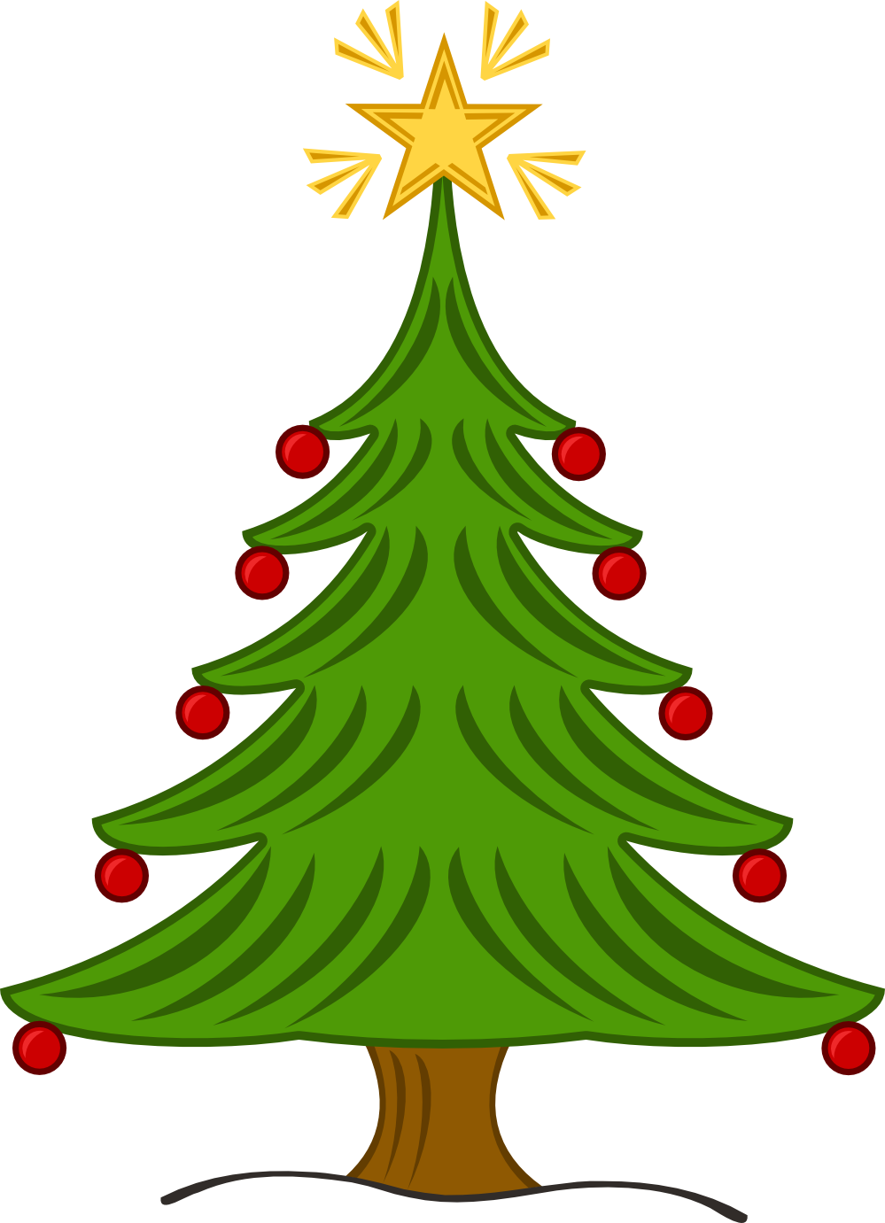 999x1381 Christmas Tree Clipart Xmas Tree