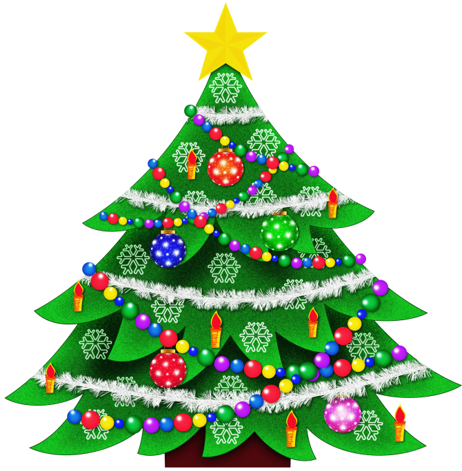 670x684 Clipart Of Xmas Tree