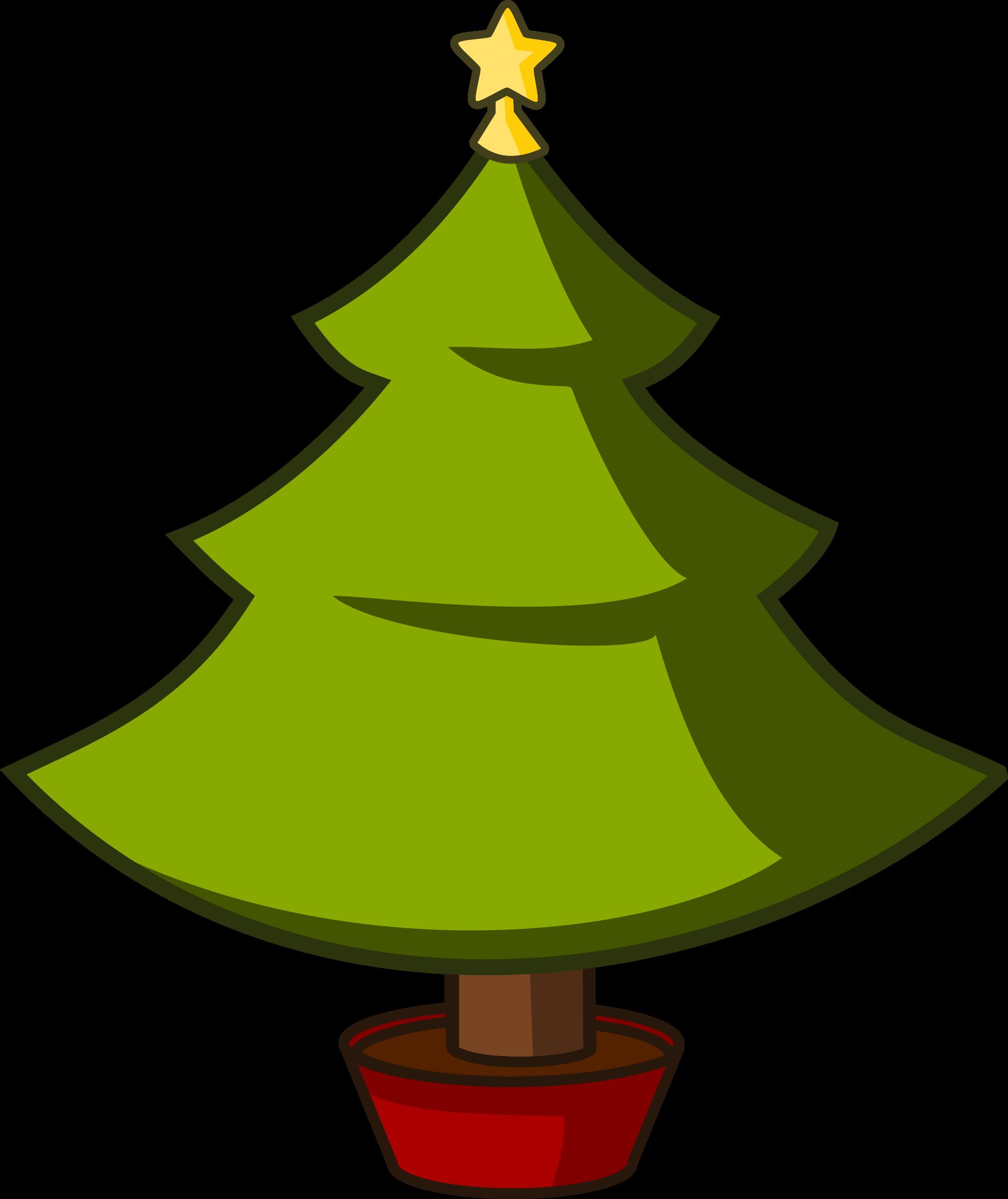 2019x2400 Xmas Tree Cartoon Clip Art