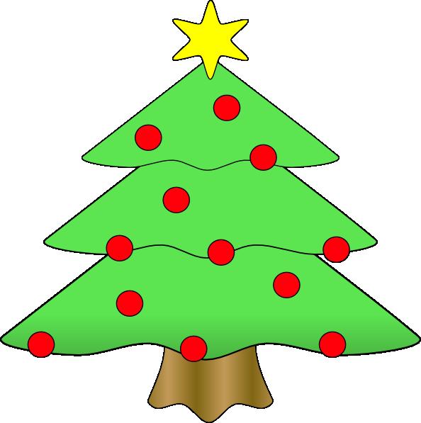 594x597 Christmas Tree Clip Art