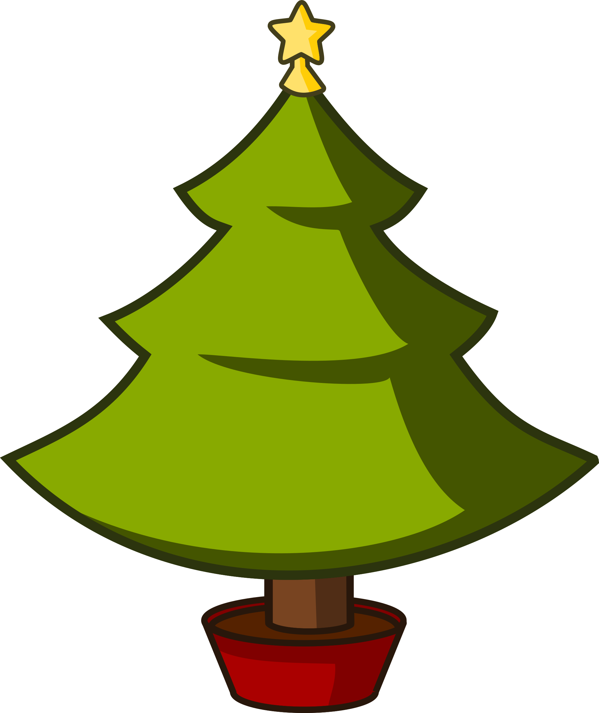 2019x2400 Christmas Tree Clipart Cartoon