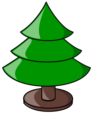 401x490 Free Christmas Tree Clipart