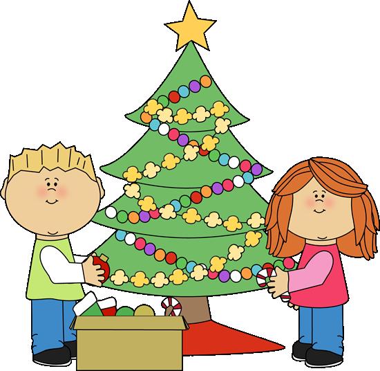 550x536 Free Merry Christmas Clip Art, Xmas Tree Graphics Borders