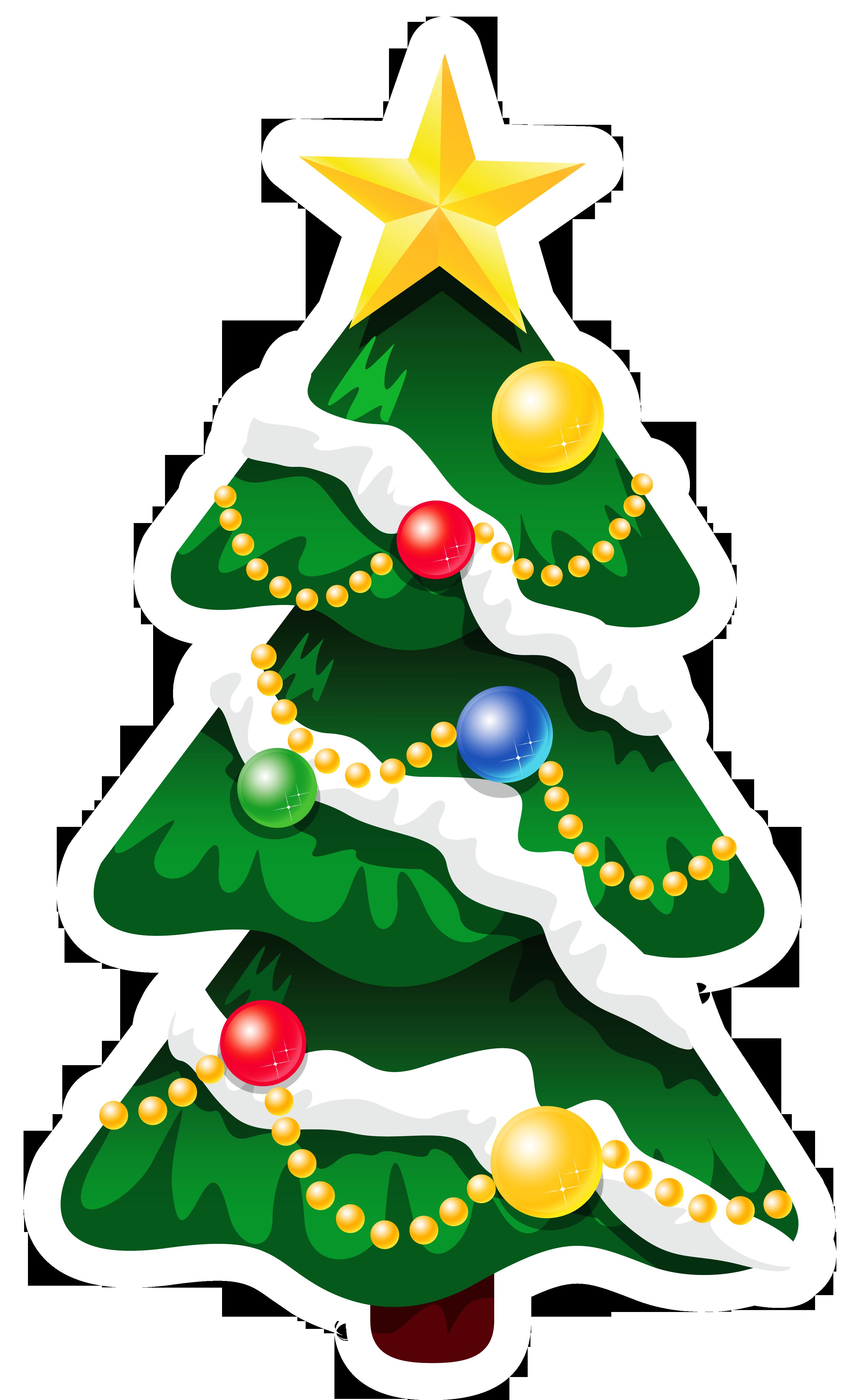3081x5059 Snowy Christmas Tree Clipart