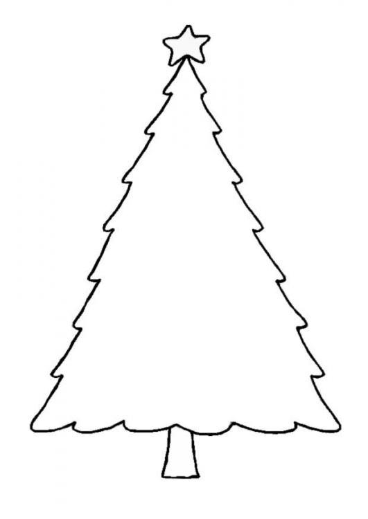 531x750 Christmas Tree Coloring Page