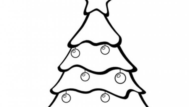 750x425 Christmas Tree Coloring Page