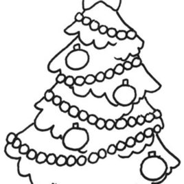 268x268 Christmas Tree Coloring Pages For Kids All About Coloring Pages