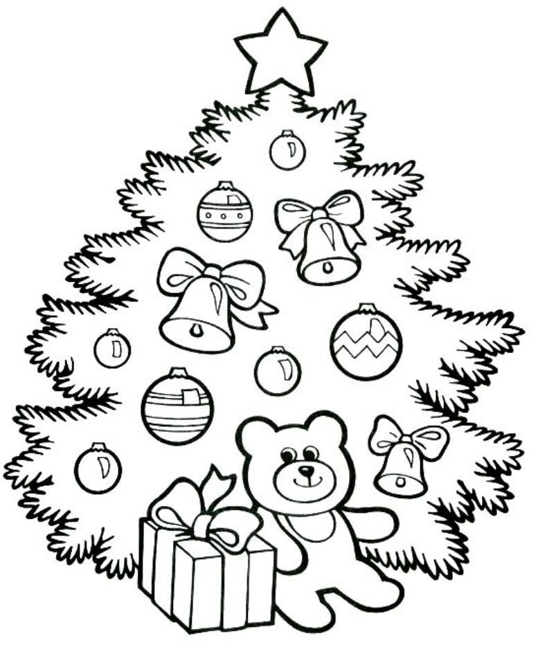 777x932 20 Awesome Christmas Tree Coloring Pages For Print Quotesbae