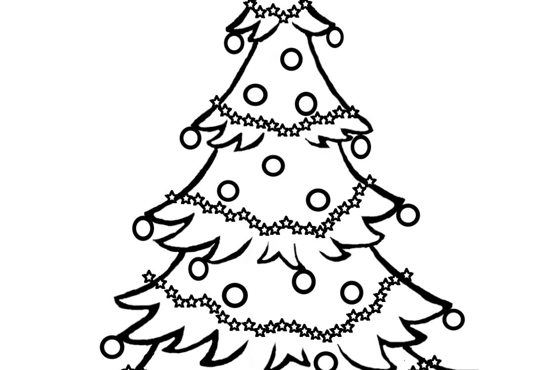 1134x750 Christmas Tree Coloring Pages And Pictures To Colour Amp Print