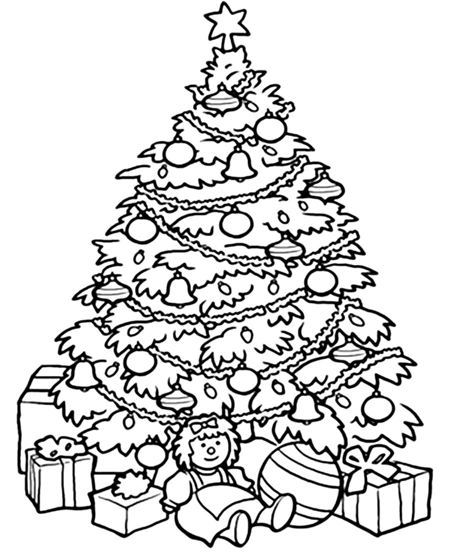 900x1104 Christmas Tree Coloring Pages
