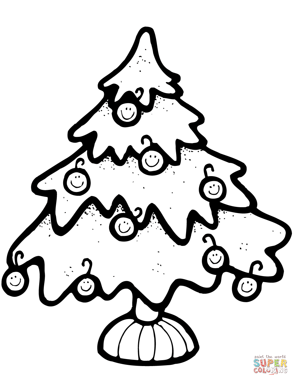 1005x1300 Christmas Tree Coloring Page Free Printable Pages