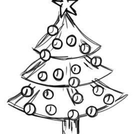 268x268 Coloring Pages Of Christmas Trees Az Coloring Pages Christmas