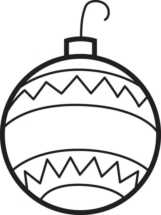 524x700 Drawn Christmas Ornaments Coloring Page