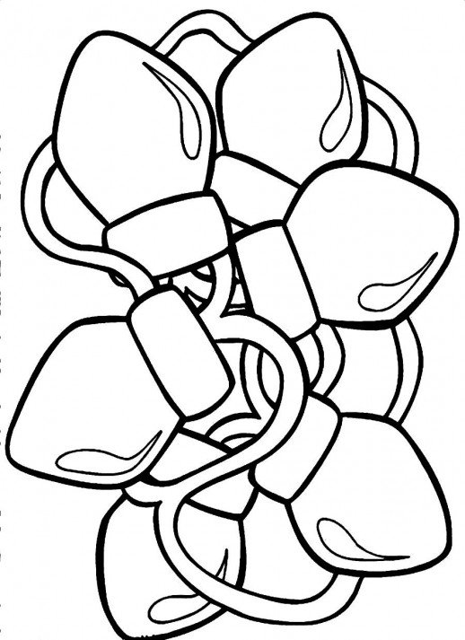 518x713 Lamps For Giving Lights To A Christmas Tree Coloring Pages