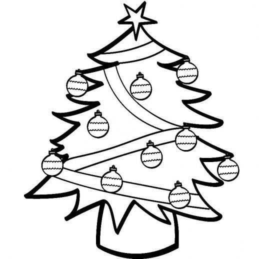 Christmas Trees Colouring Pages: Free Download Best Xmas Tree