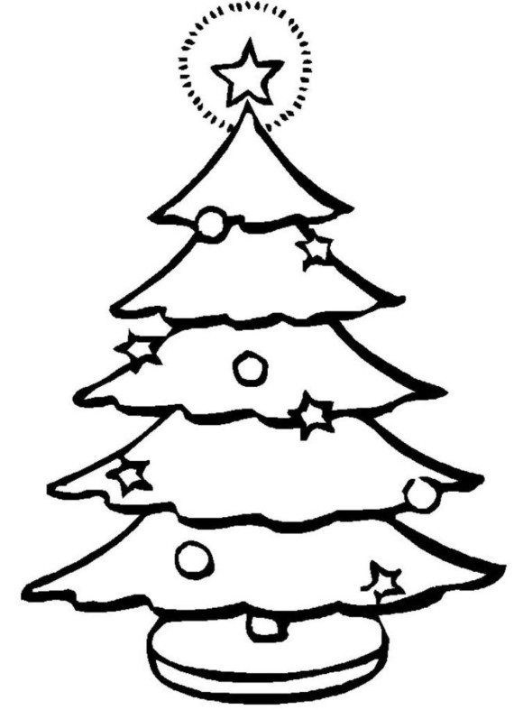 580x787 Xmas Tree Coloring Pages Christmas Tree Coloring Pages For Kids