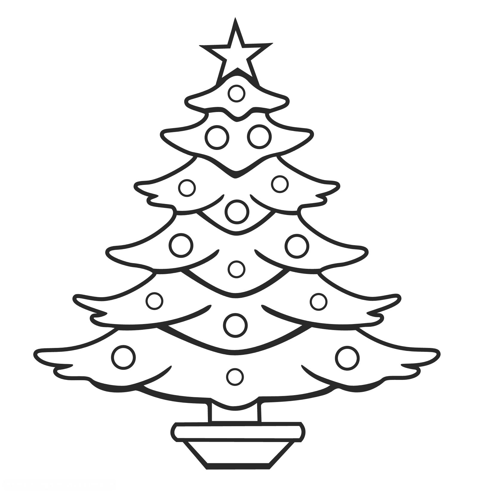 1654x1654 Xmas Tree Coloring Pages Merry Christmas Cat