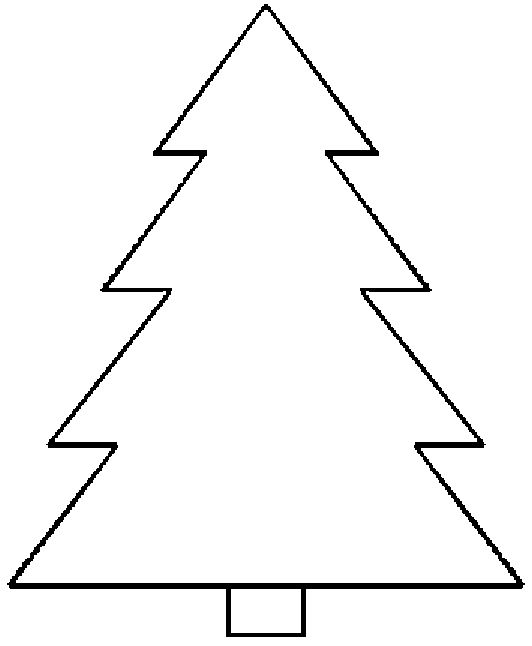 532x646 Blank Christmas Tree Coloring Page