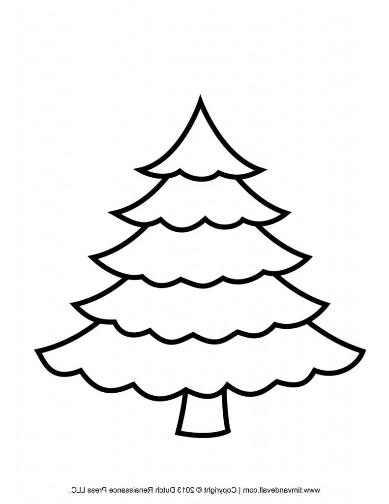 791x1024 Blank Christmas Tree Coloring Page
