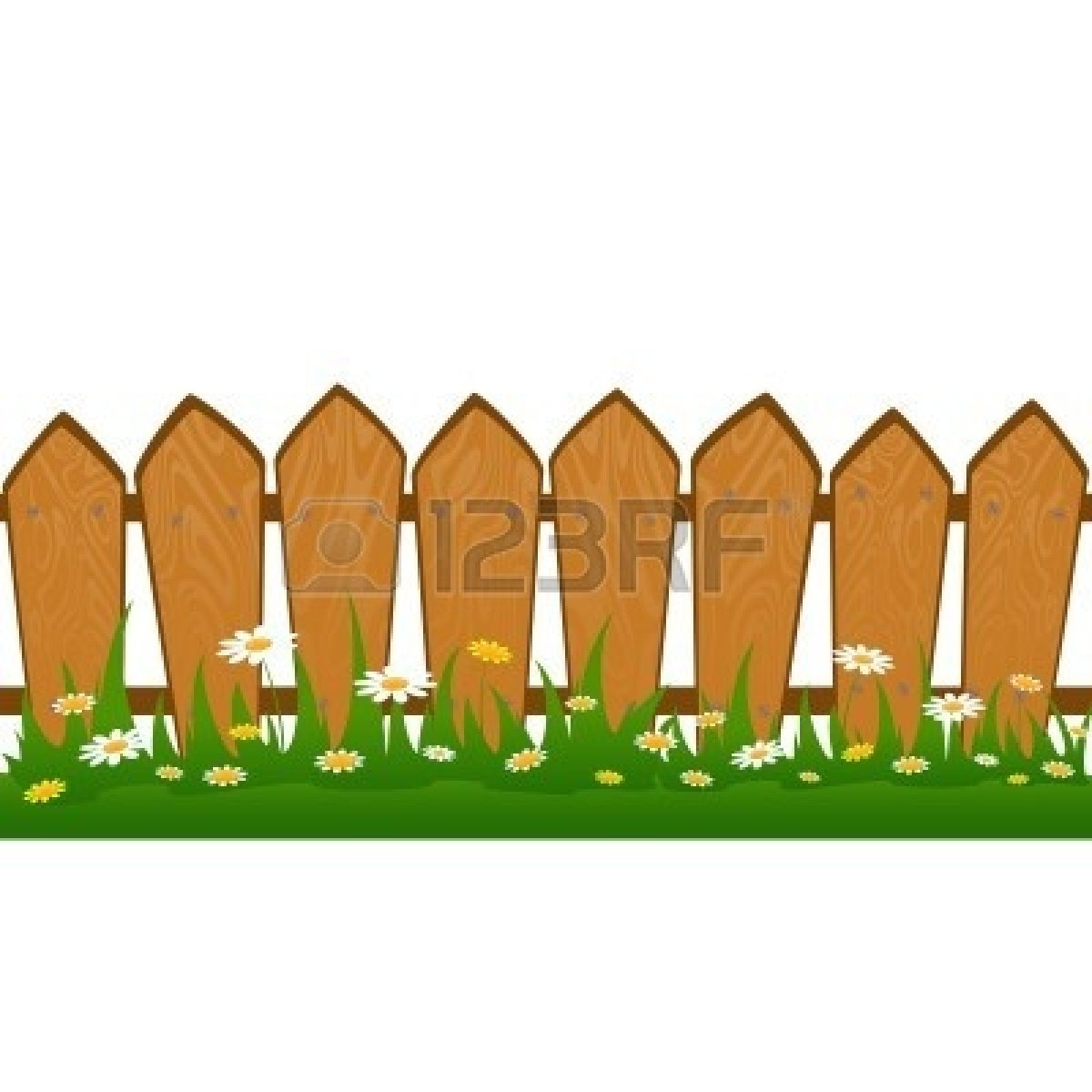 1200x1200 Lawn Clipart Fenced Yard