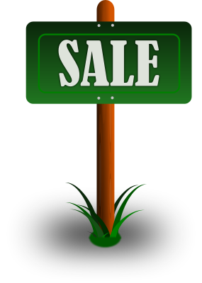 285x400 Sale Sign In Yard Clip Art Download